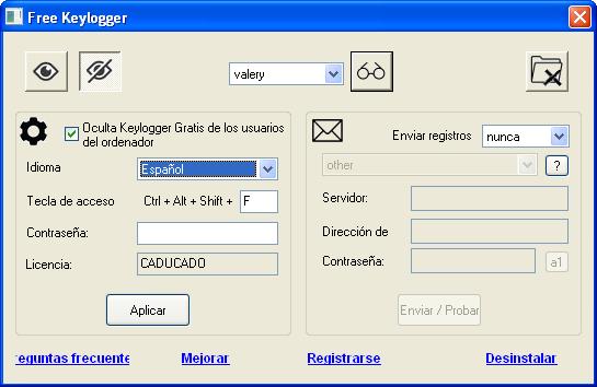 Keylogger Gratis full screenshot